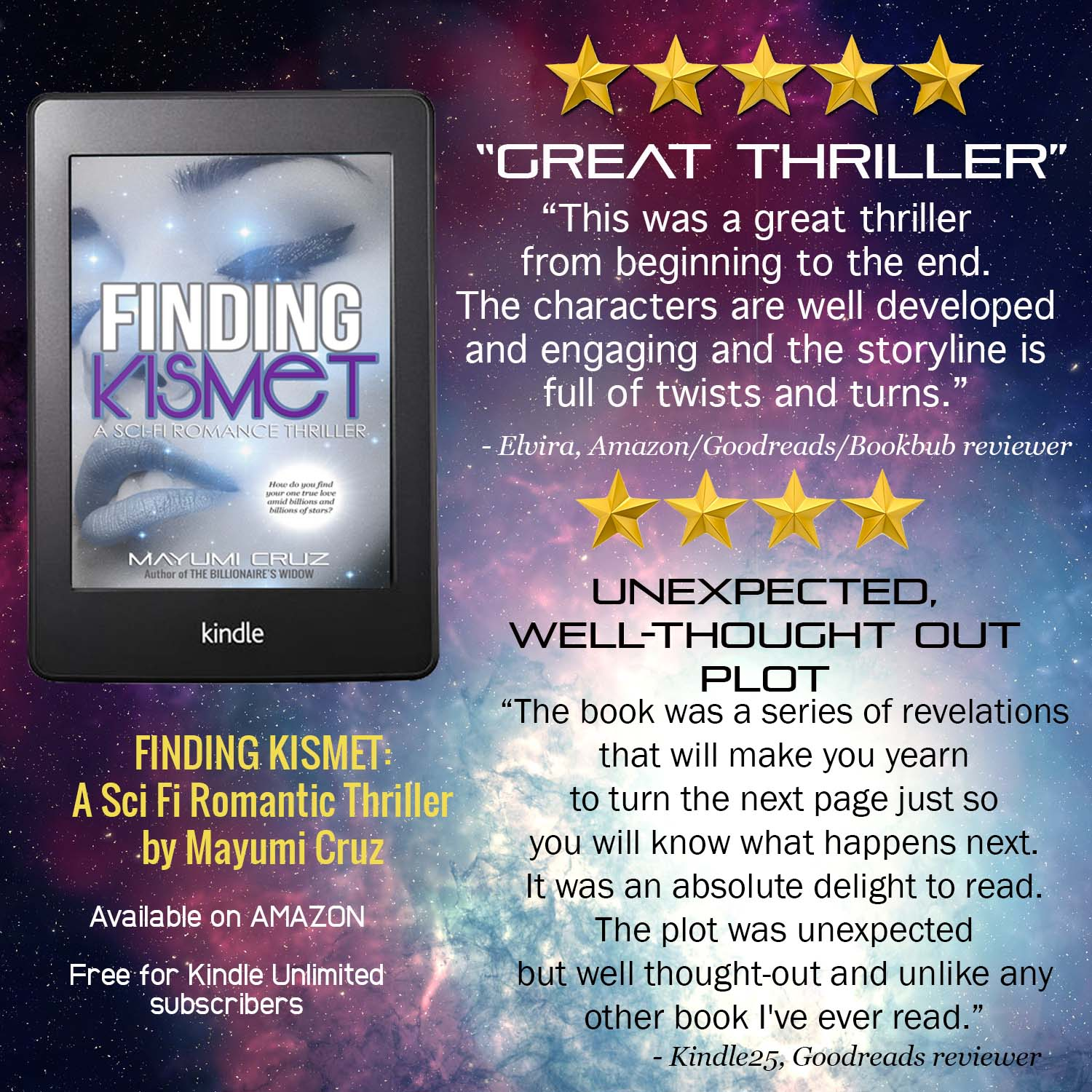 First Five-Star Review for Finding Kismet